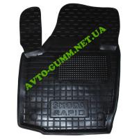 Коврик в салон водительский для Skoda Rapid резиновый (AVTO-Gumm)